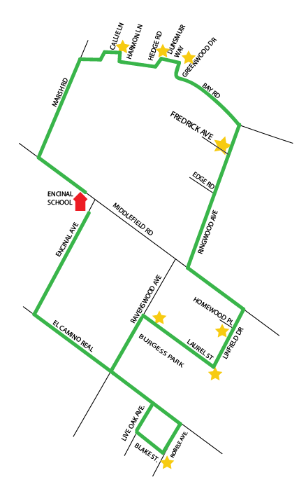 Encinal Morning Route Map