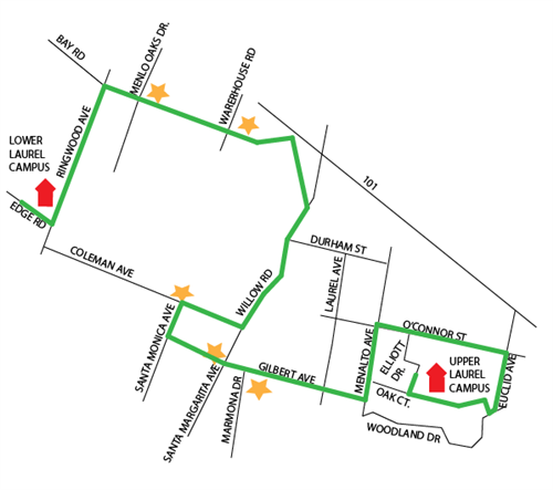 Laurel Upper Campus AM Route Map