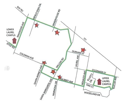 Laurel School Upper Campus Afternoon Bus Routes
