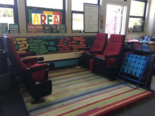 Movie theater seating in classrooms