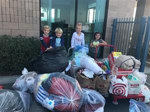 Laurel students collect donations for North Bay fire victims